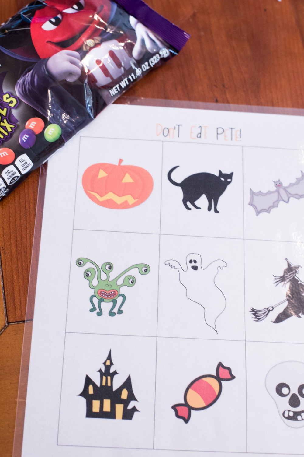 Halloween Don't Eat Pete Game Board