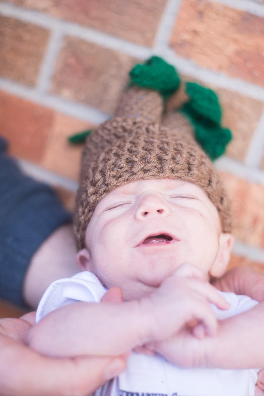 A baby wearing a cute cap