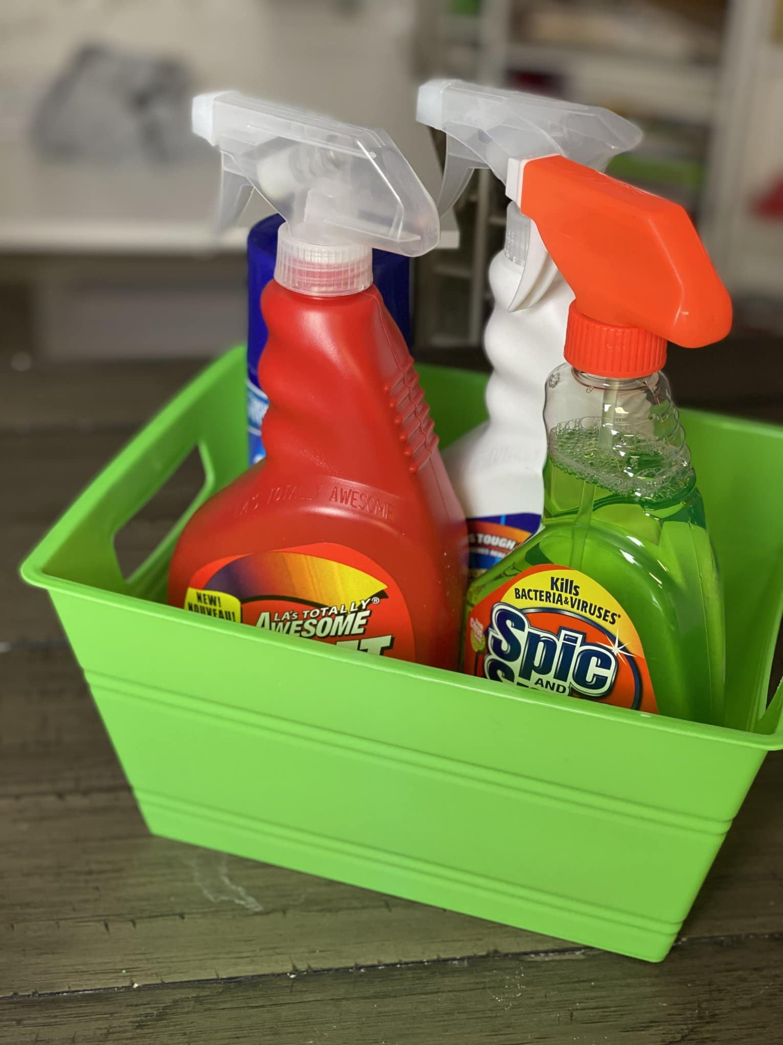 dollar tree cleaning caddy