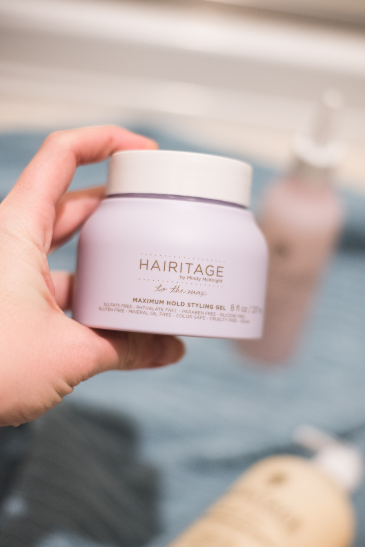 A close up of a hair mask
