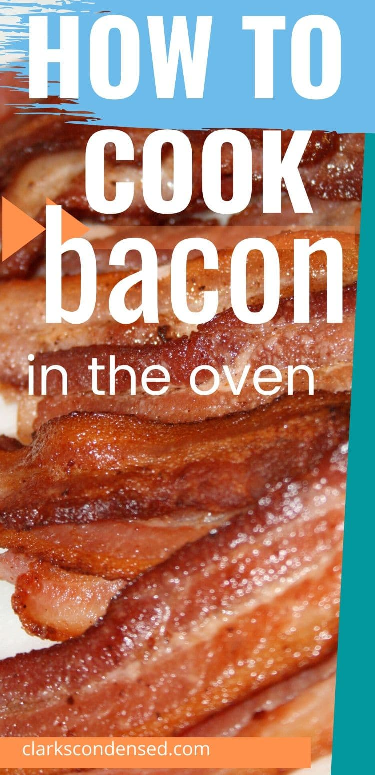This is the best method for how to cook bacon in the oven. It's less messy and greasy and so delicious! via @clarkscondensed