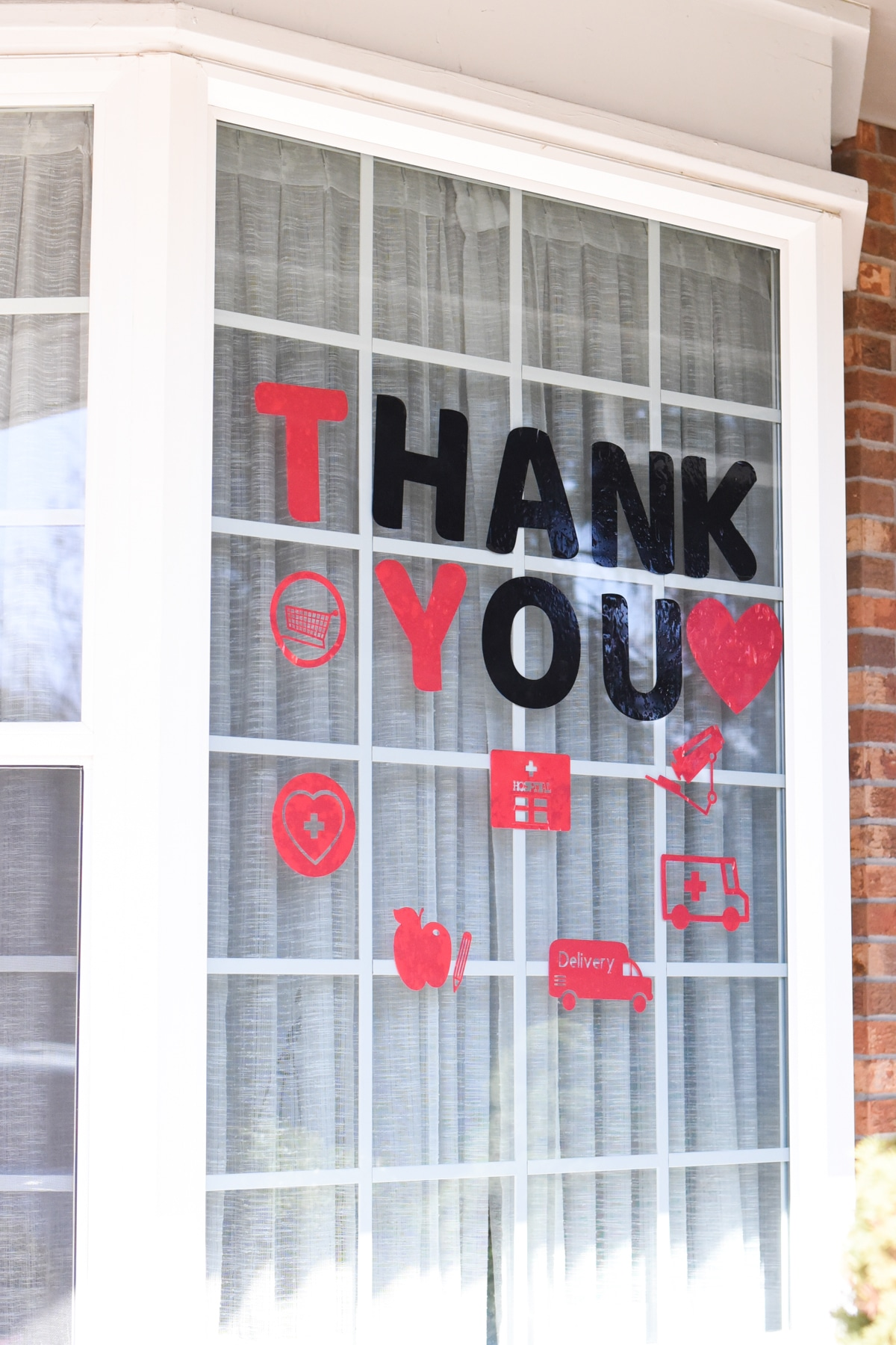 thank you first responders in window