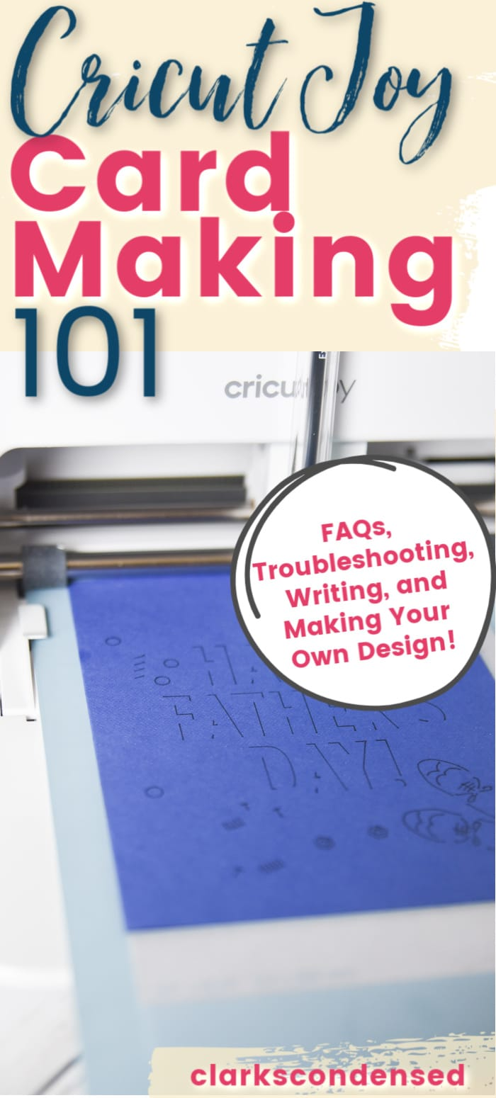 Making cards with the Cricut Joy is one of its best features - and it requires very little time and ability! Here are all the best tips and tricks for Cricut Joy card making, including tips for making your own designs! via @clarkscondensed