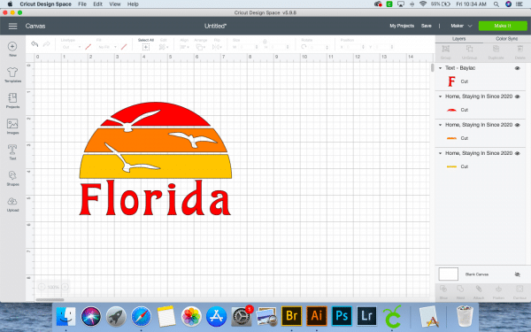 screenshot of design space with Florida
