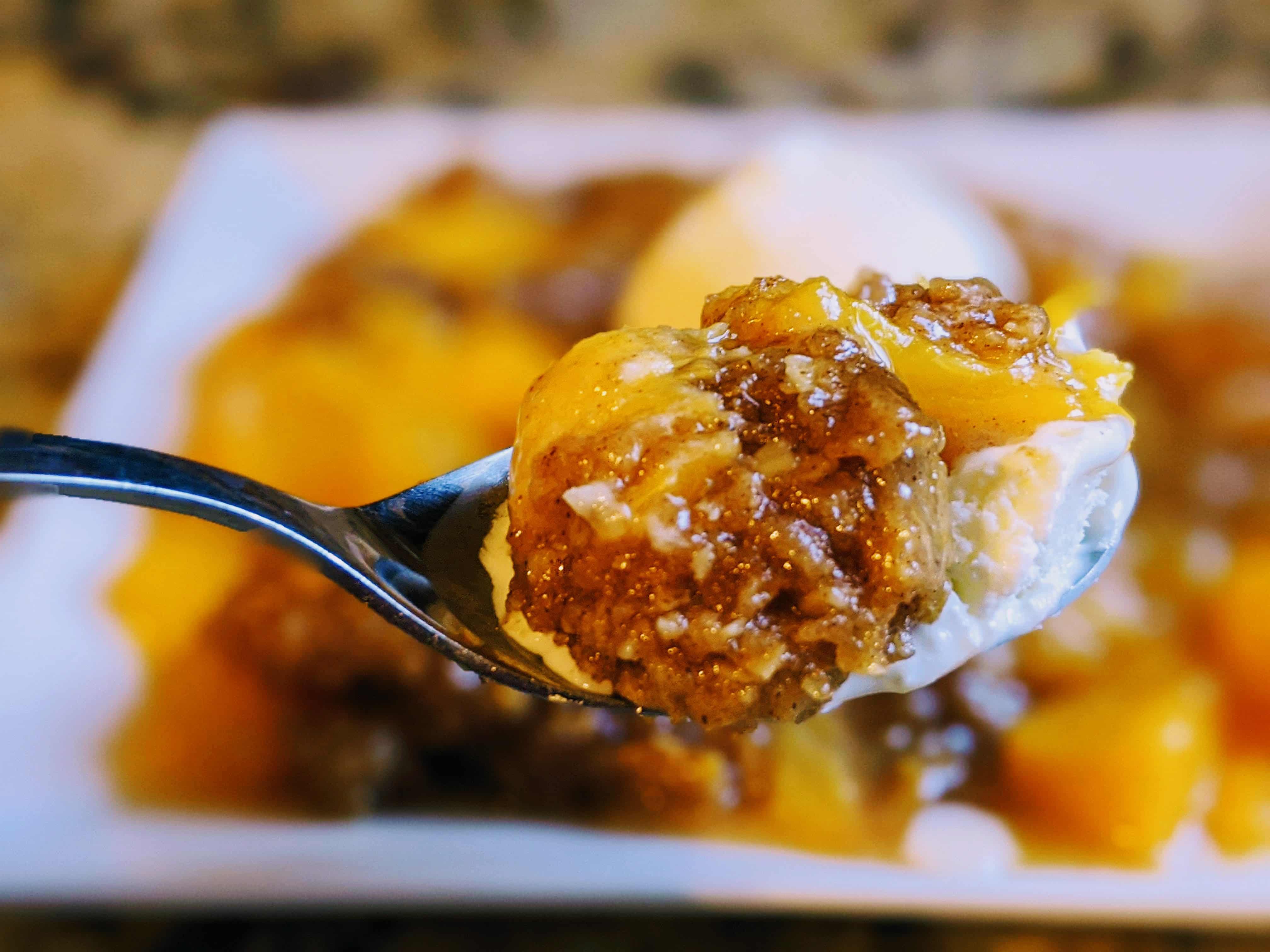 spoonful of peach crisp