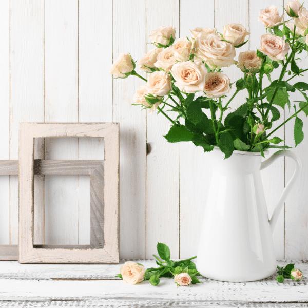 pretty flowers in vase