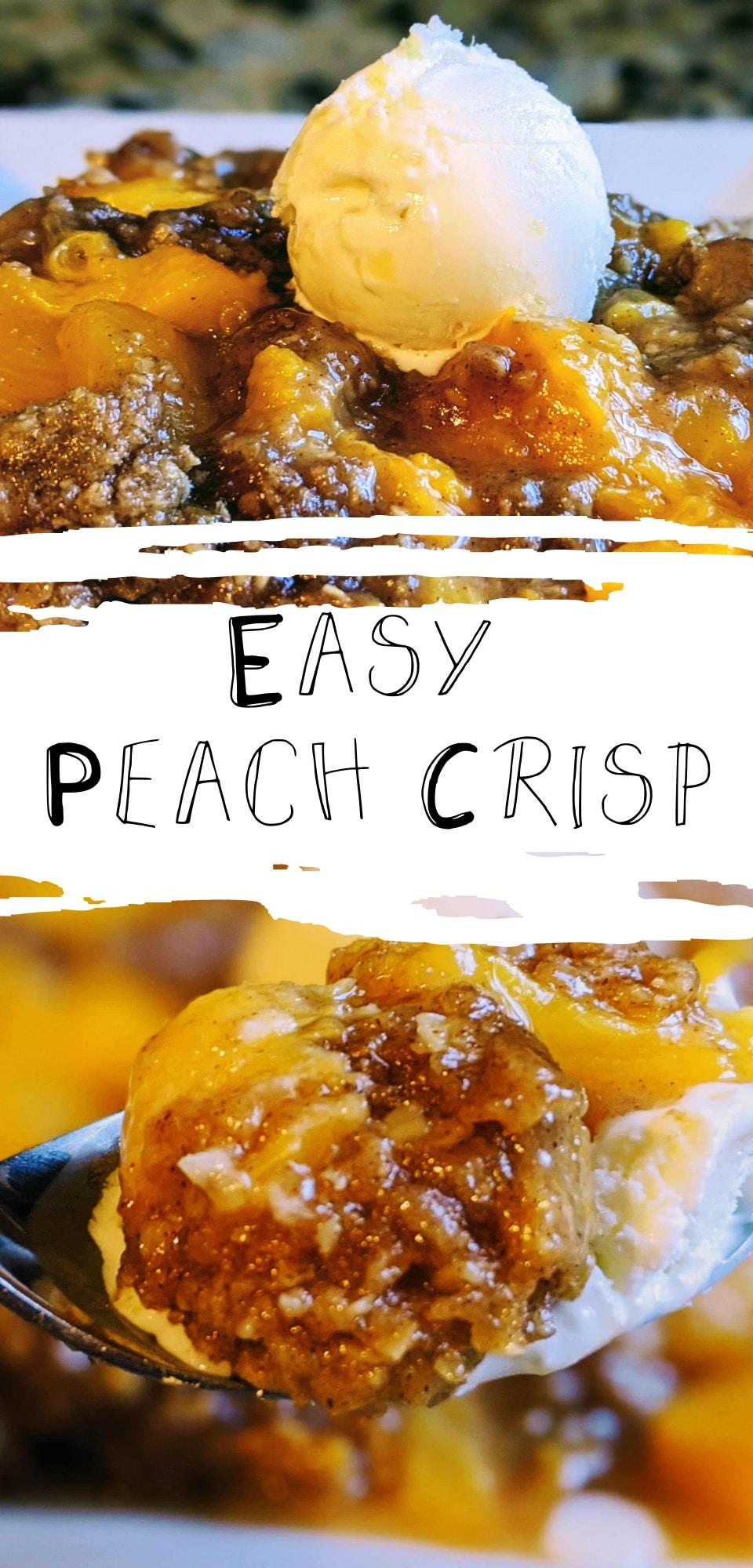 peach crisp cobbler pictures