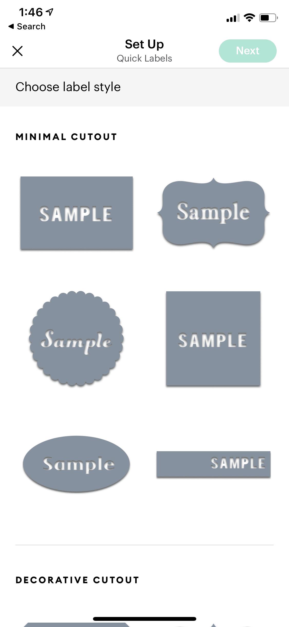 cricut joy instant labels  style