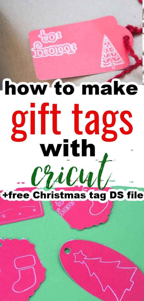 Make custom gift tags with your Cricut - this tutorial includes a free design space file with Cricut christmas tags! via @clarkscondensed