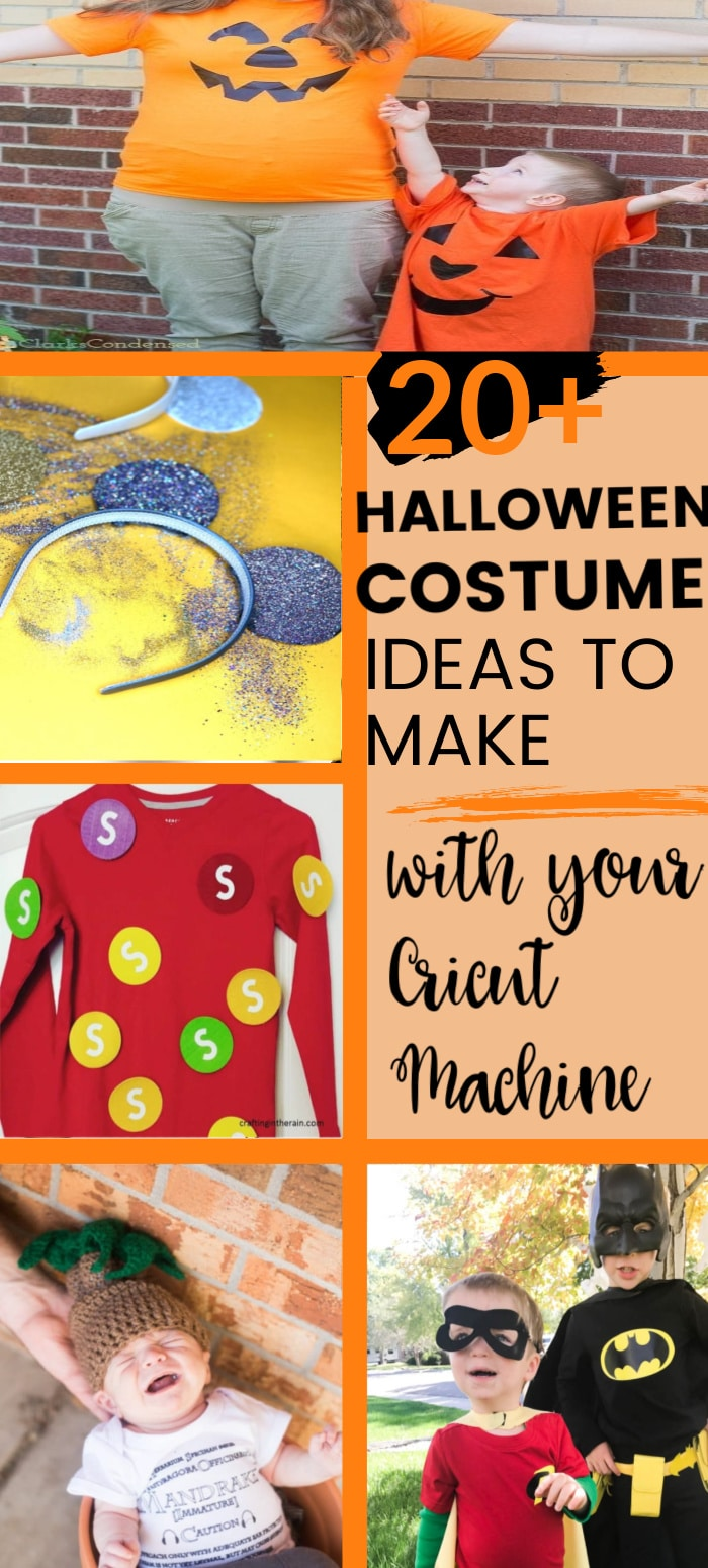 It's almost Halloween time! Here are over 20 awesome DIY Halloween Costumes that you can make with your Cricut! via @clarkscondensed