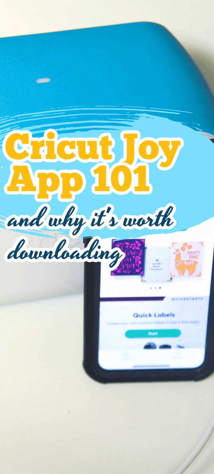 The Cricut Joy app has some really unique and fun features - here is what you need to know about getting started with it to make some cricut joy projects. via @clarkscondensed