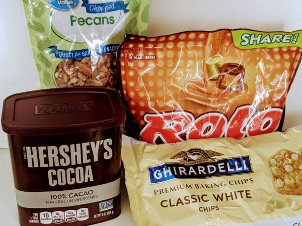 ingredients for rolo cookies