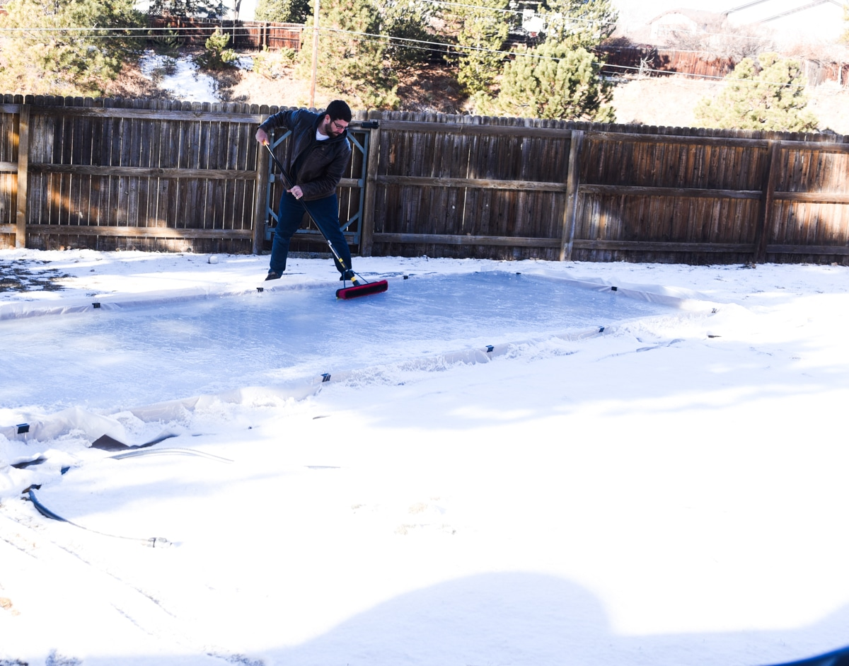 squeegee ice rink