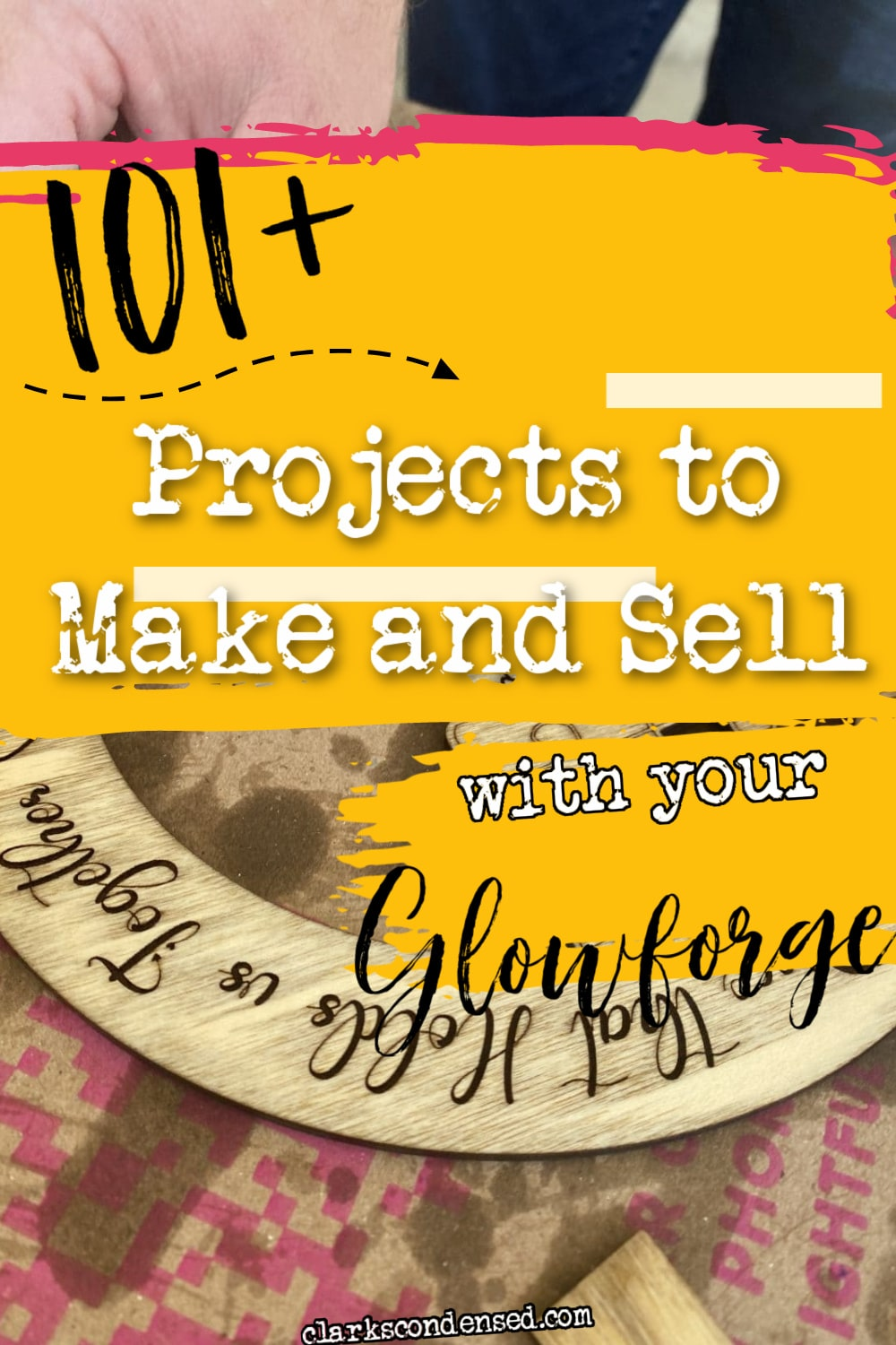 A Glowforge laser cutter has SO many options - but what Glowforge projects are the best to make? In this post, we share over 100 great ideas for Glowforge projects that you can make and sell for your small business. WE've included links to digital files that you can buy or use for your own inspiration. This post is a must-read for all Glowforge Owners! via @clarkscondensed