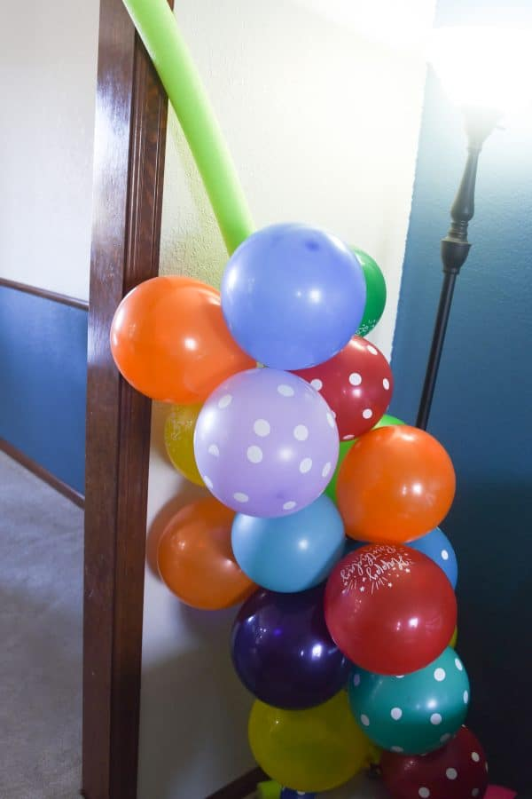 balloon arch in progress