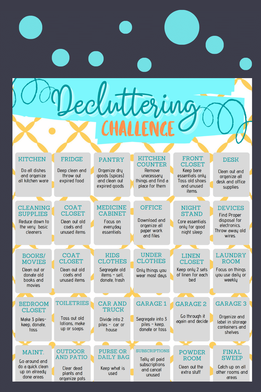 "<span itemprop=""name"">Decluttering Challenge Checklist</span> via @clarkscondensed"