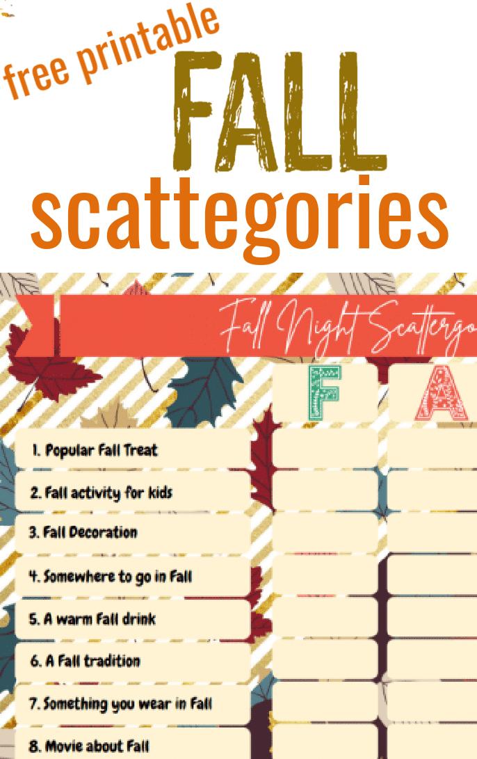 "<span itemprop=""name"">Fall Fun Scattegories Board</span> via @clarkscondensed"