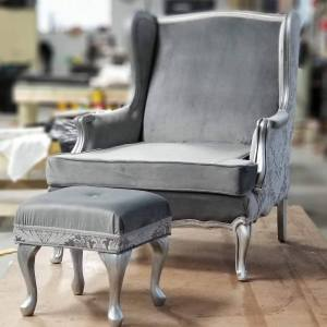 Wingback Gray Velvet | SPEC