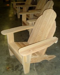 Lakeview Redwood Classic Adirondack Chair and Ottoman
