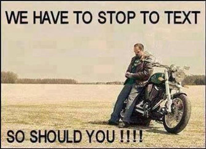 Motorcycle Texting