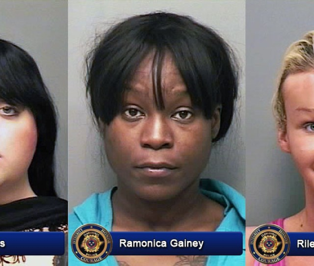 Cody Hughes Ramonica Gainey And Riley Gatta Arrested By Clarksville Police For Prostitution
