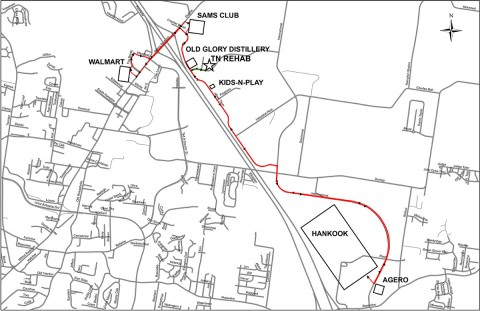 Clarksville Transit System's Industrial Park Bus Route