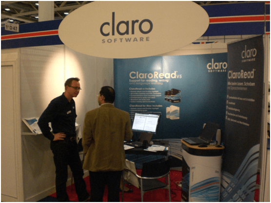 Claro Software Stand at Worlddidac 2010