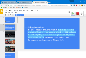 ClaroRead Chrome reading Google Slides with highlighting