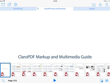Tabbed document view in ClaroPDF V2,