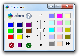 Image of the ClaroView colour panel