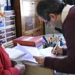 Presso l'Archivio di Stato si firma il verbale di consegna delle pergamene