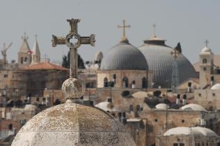 Gerusalemme. Veduta della Basilica del Santo Sepolcro