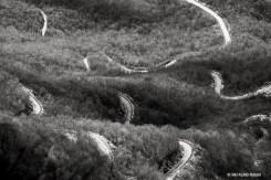 strada a tornanti verso il monte ariola