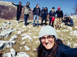Claudia Orsino, Angelo Rotunno, Federico Quaranta e la squadra che ha lavorato per il nostro Matese