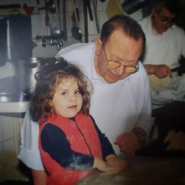 Roberta con il nonno