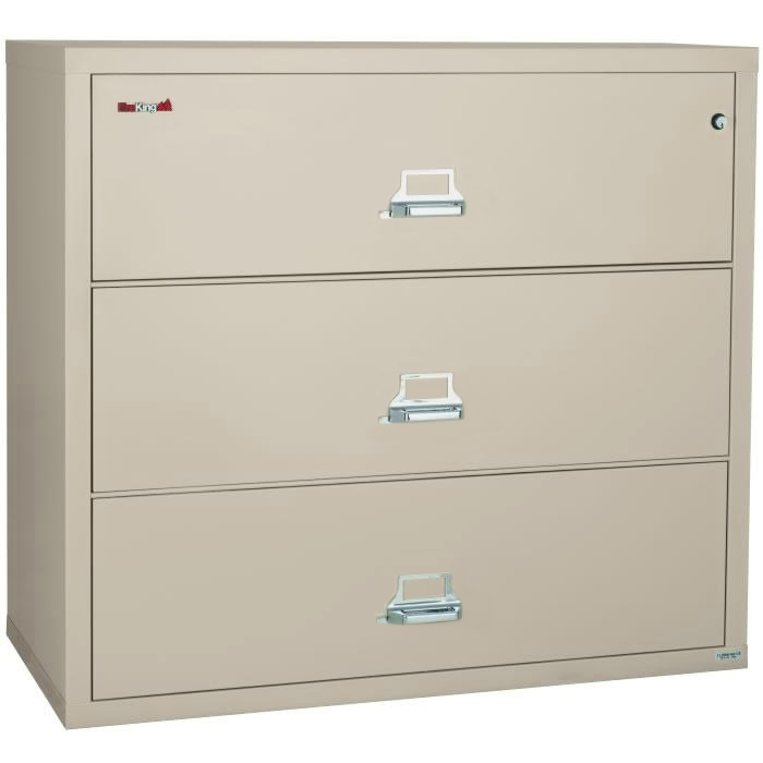 FireKing 44 Inch Wide Lateral File Cabinet 34422C 3 Drawer