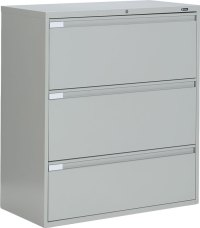 Global 9336P 3 Drawer Lateral Filing Cabinet - 9336P-3F1H