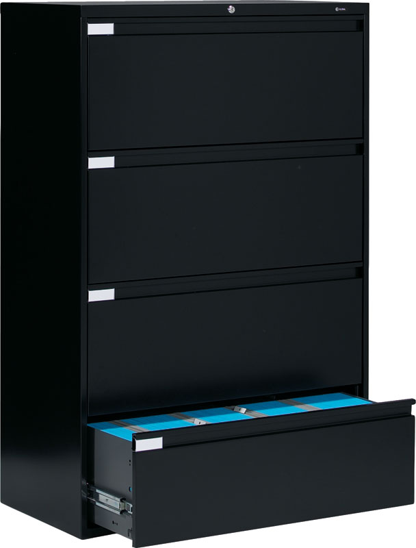 Global 9336P 4 Drawer Lateral Filing Cabinet