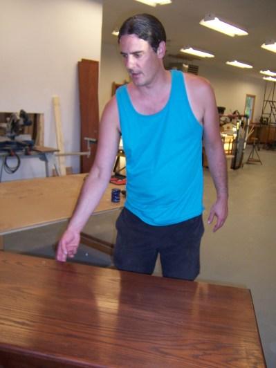 Brett working on his kithen table