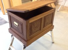 Madeline's Toy chest walnut and poplar