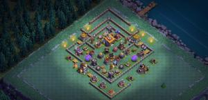 BUILDER HALL 8 ANTI 3 STAR BUILDER BASE