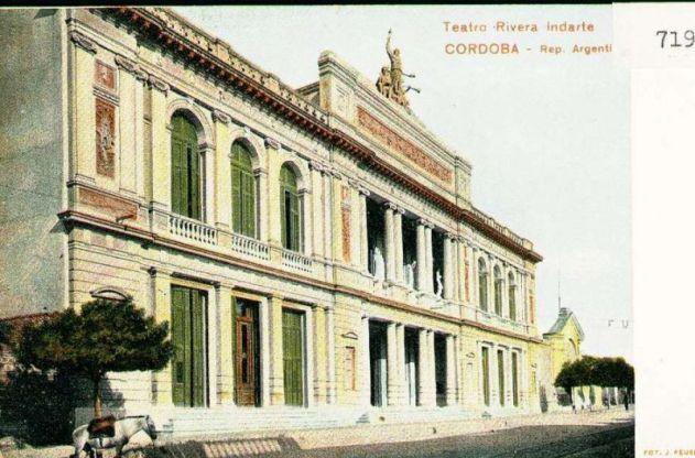 Teatro Rivera Indarte postal a colores