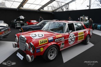 Recreación del Mercedes 300 SEL 6.3 AMG de las 24 Horas de Spa 71
