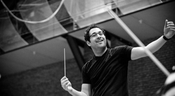 Leo Hussain și Cristian Măcelaru la pupitrul Orchestrei Naționale Radio