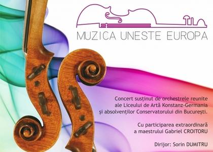 'Muzica uneşte Europa' – concert la Teatrul 'Elisabeta' din București