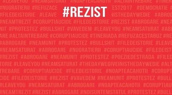 """Albumul """"#rezist. Pancarte de la protestele OUG 13/2017"""" a fost lansat pe piaţă şi se găseşte în librării"""