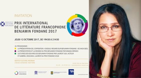 Decernarea Premiului Internațional de Literatură Francofonă Benjamin