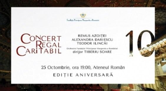 Concert caritabil aniversar organizat de Fundatia Principesa Margareta a României