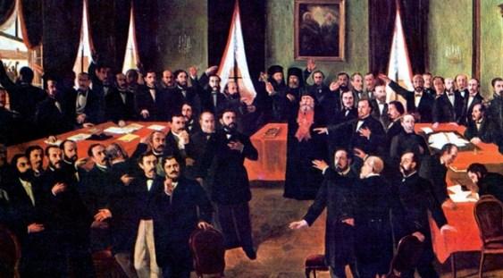 """Lucrarea """"Proclamarea Unirii"""", de Theodor Aman, expusă de Ziua Unirii Principatelor"""