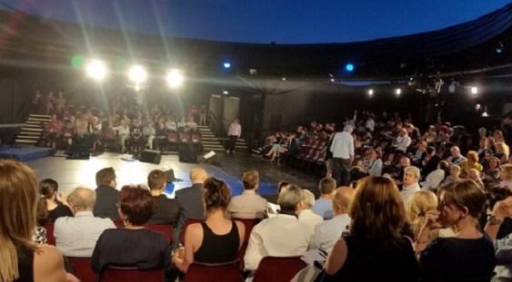 Noua sală de spectacole în aer liber de la Teatrul Naţional Bucureşti a fost inaugurată